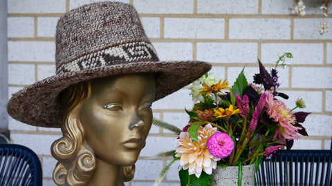 Vintage Wide Brim Hat Fedora Wool Made in Bolivia