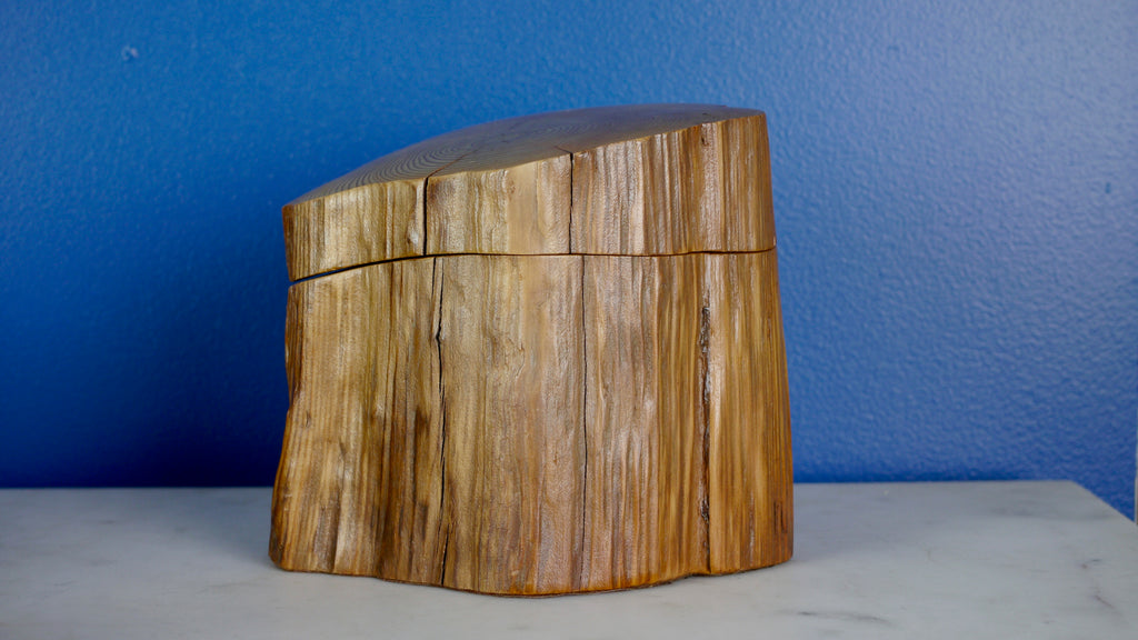Vintage Natural Wood Stash Trinket Box Mendocino Woodshed Sequoia