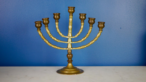Vintage Brass Menorah Moveable Articulated Branches