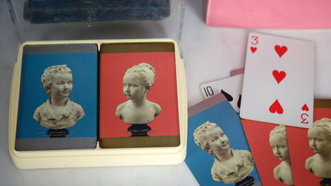 Vintage National Gallery of Art Playing Cards Museum Pink Blue Minimal