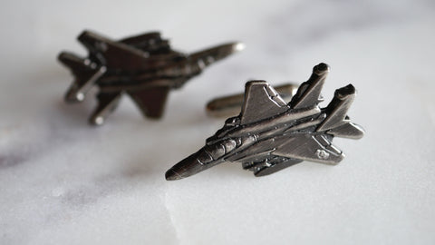 Mid Century Fighter Jet Cufflinks