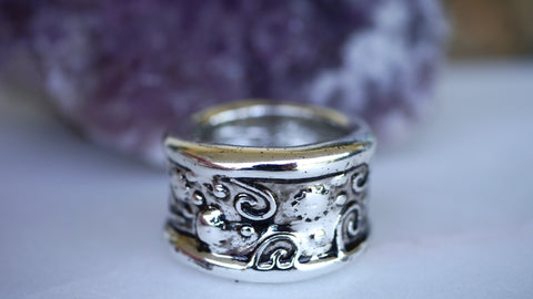 Vintage Napier Chunky Silver Tone Ring Size 10