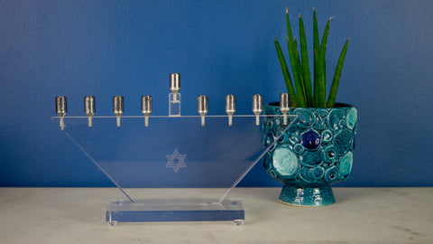 AS IS Vintage Menorah Lucite Minimal