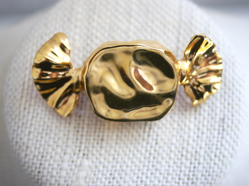 Vintage Candy Brooch gold tone