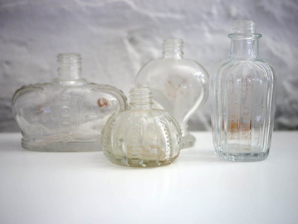 Collection set of 4 Vintage Perfume bottles Prince Matchabelli, Avon