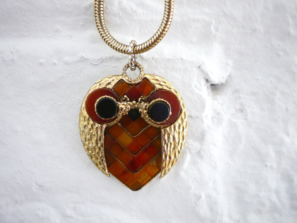 Swoboda Mosaic Owl Necklace