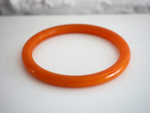 Bakelite Bangle Bracelet Spacer Marbled Orange Tangerine