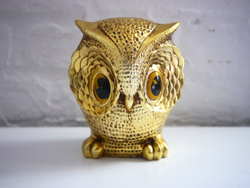 Gold Owl Bank New Trends Inc Japan Paper Mache