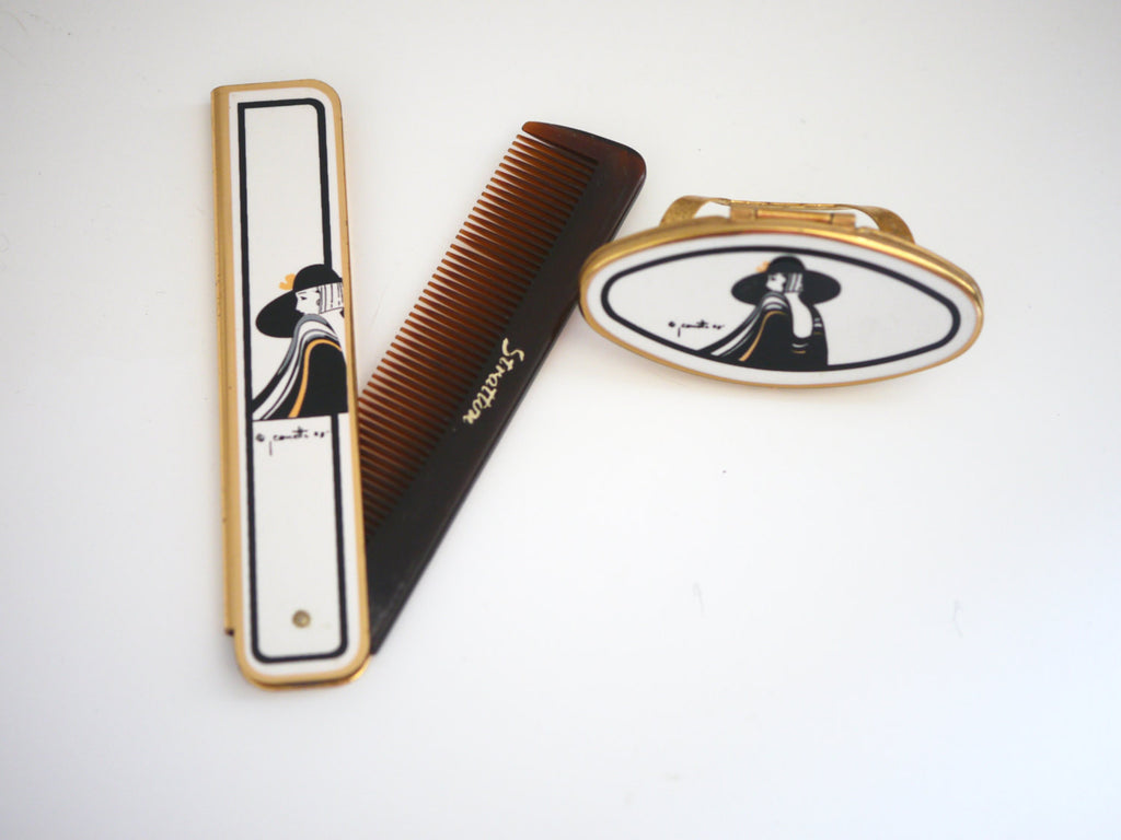 Stratton Comb and Lipstick Holder