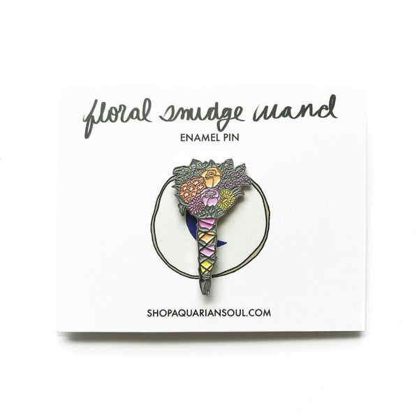 Floral Smudge Wand Pin
