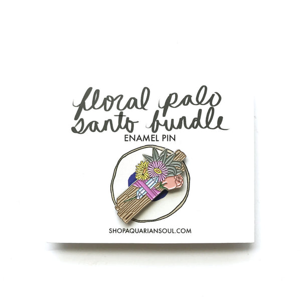 Floral Palo Santo Bundle Pin