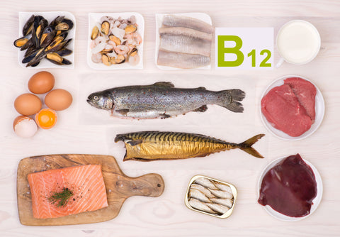 B12 comes from sources like fish, eggs, yogurt and now VitaCup.