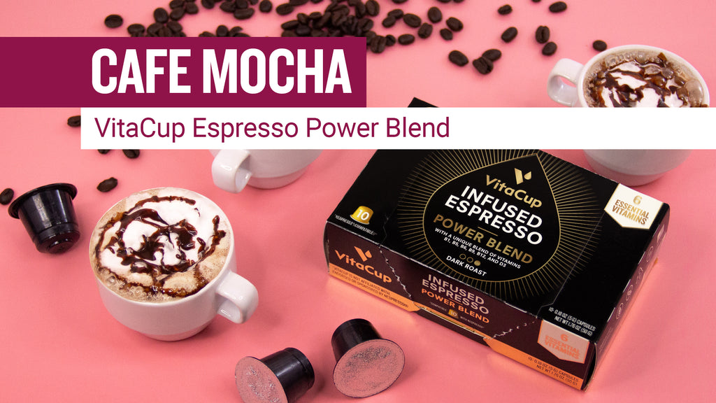 [Recipe] Cafe Mocha with VitaCup Espresso Power Blend