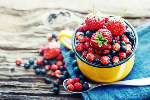 Fabulous food for thought number 3; brain food berries like strawberries and blueberries.