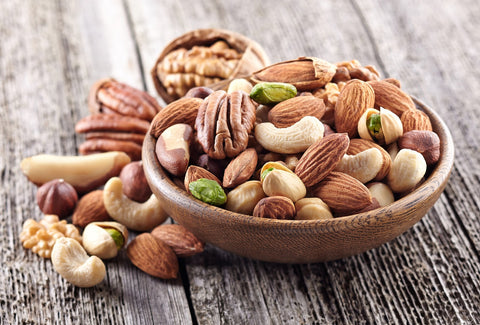 Fabulous food for thought number 5; brain food nuts like cashews, walnuts, almonds and hazelnuts.