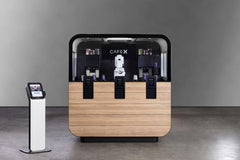The Cafe X Coffee robot coffee brewer.