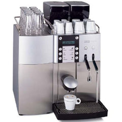 The Franke Evolution 1 step espresso machine and brewer.