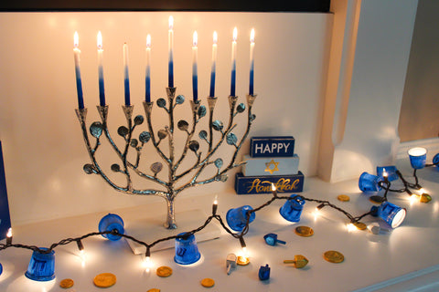 DIY Hannukah lights are a perfect decoration to go with your Menorah.