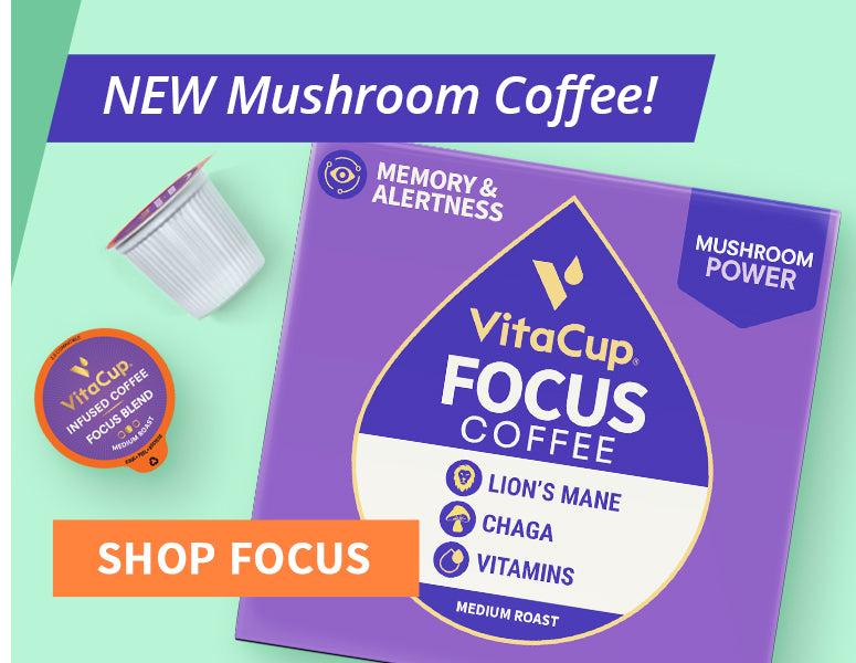 All New Focus Mushroom Coffee Pods