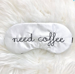 A coffee themed sleep mask is a awesome gift idea.