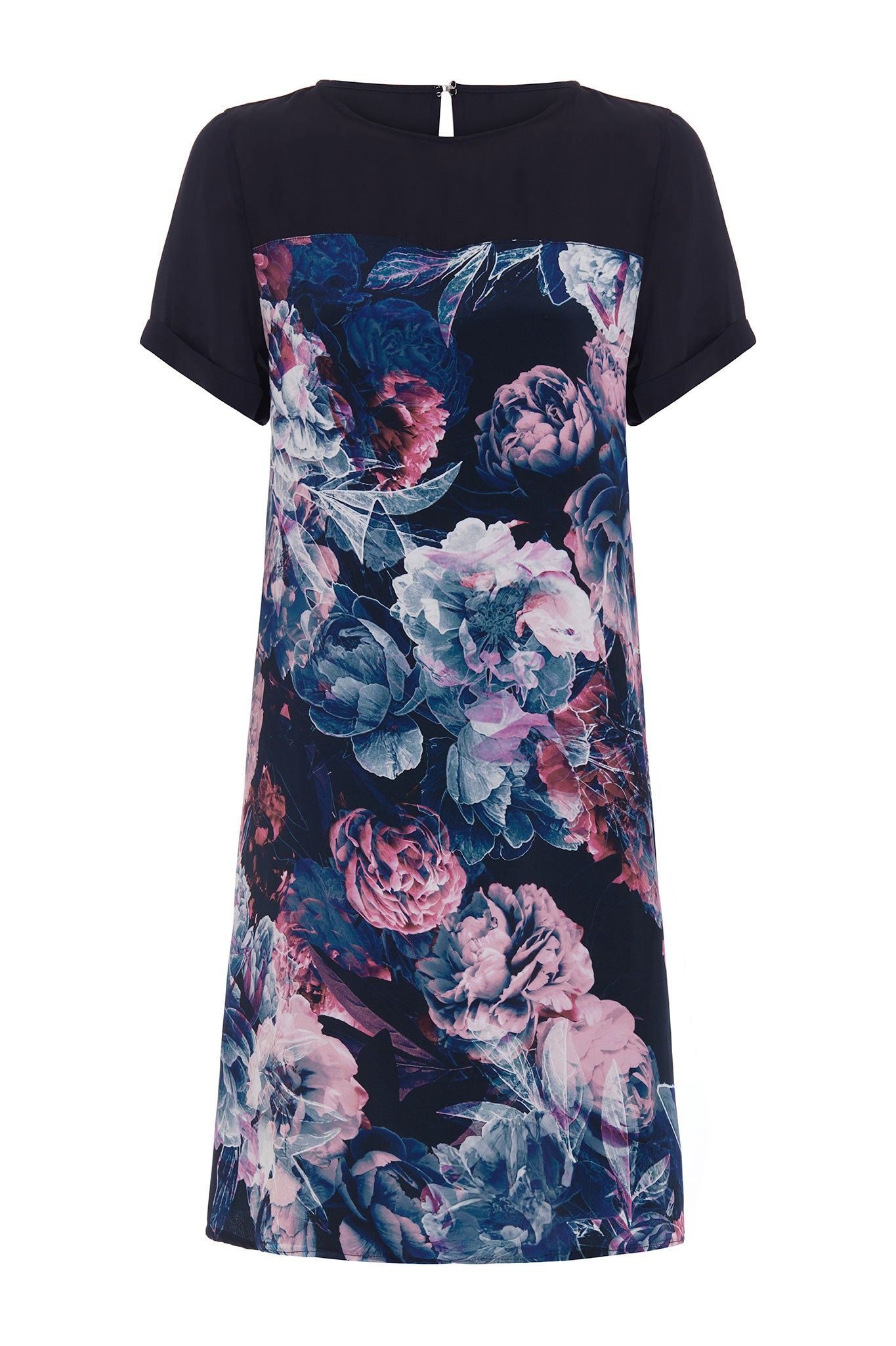 The Heather Silk Floral Shift Dress