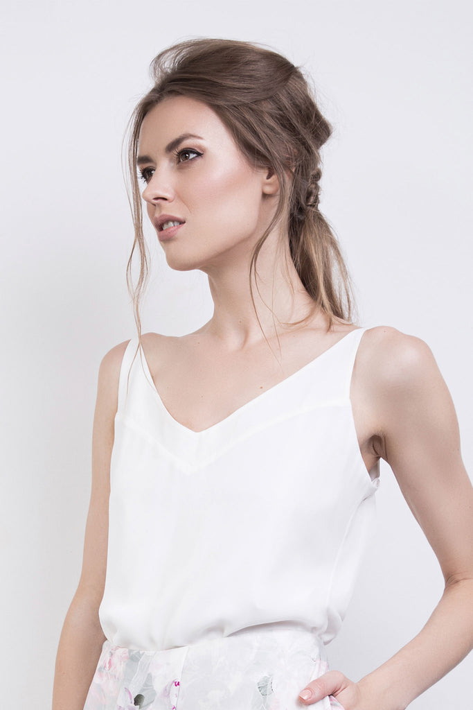 The Sophie Silk Cream Cami Top