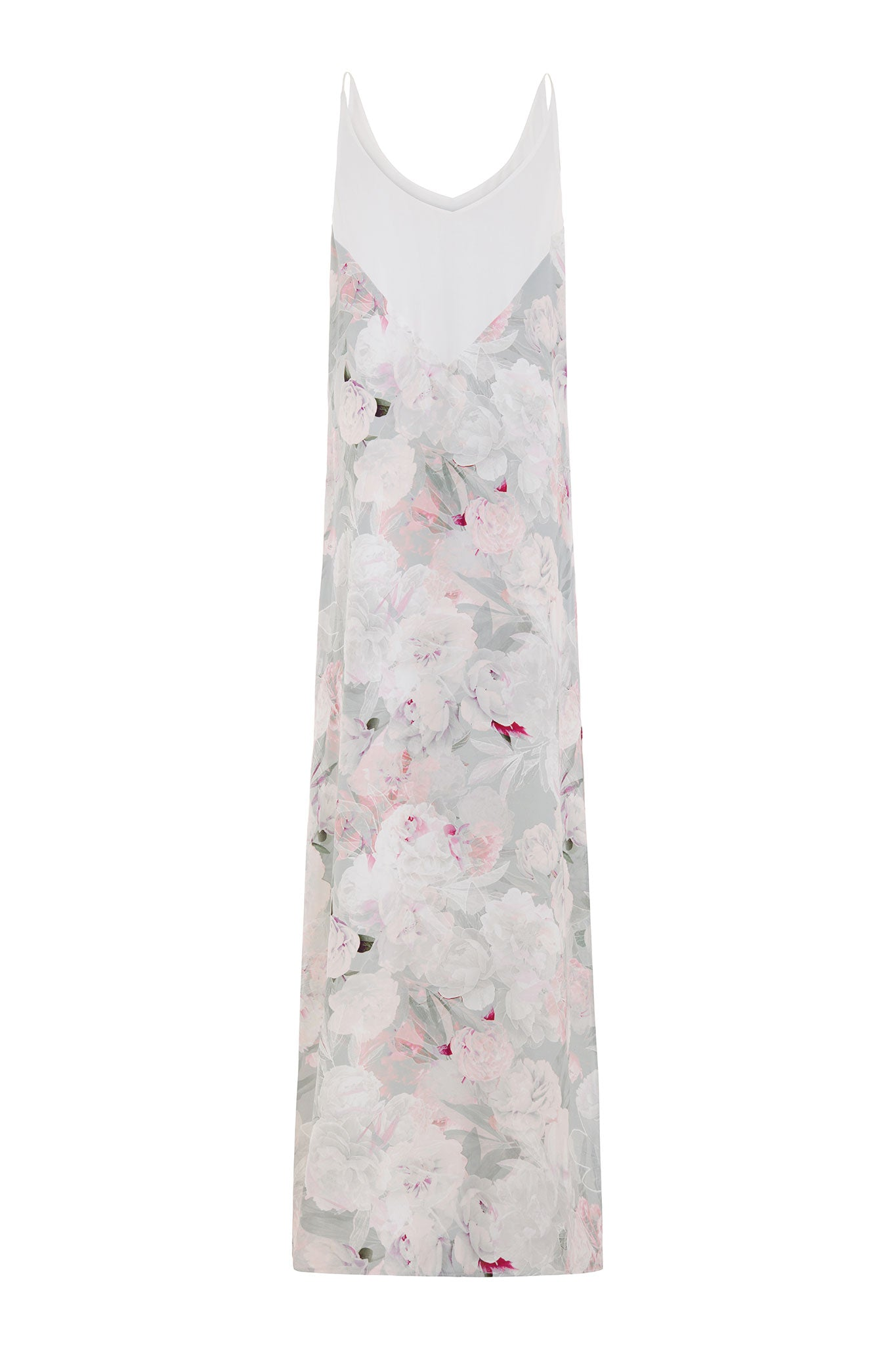The Lucy Silk Floral Print Maxi Dress