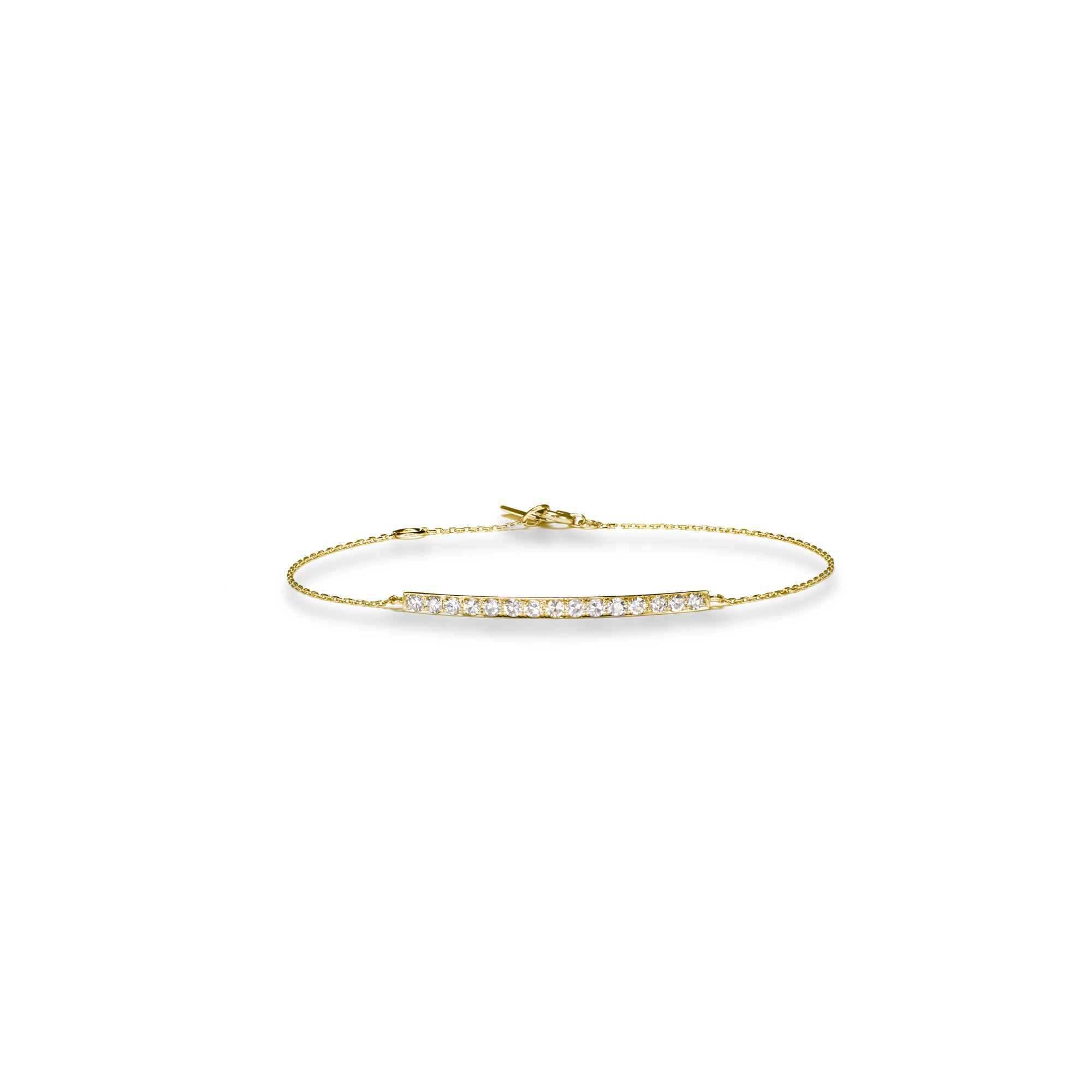 Single-cut Diamonds Yellow Gold Bracelet