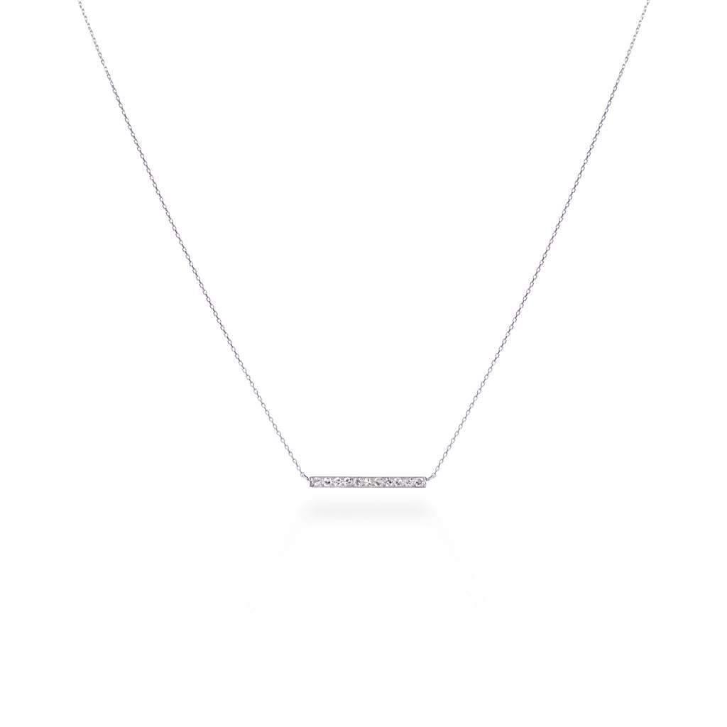 Single-cut Diamond Platinum Pendant
