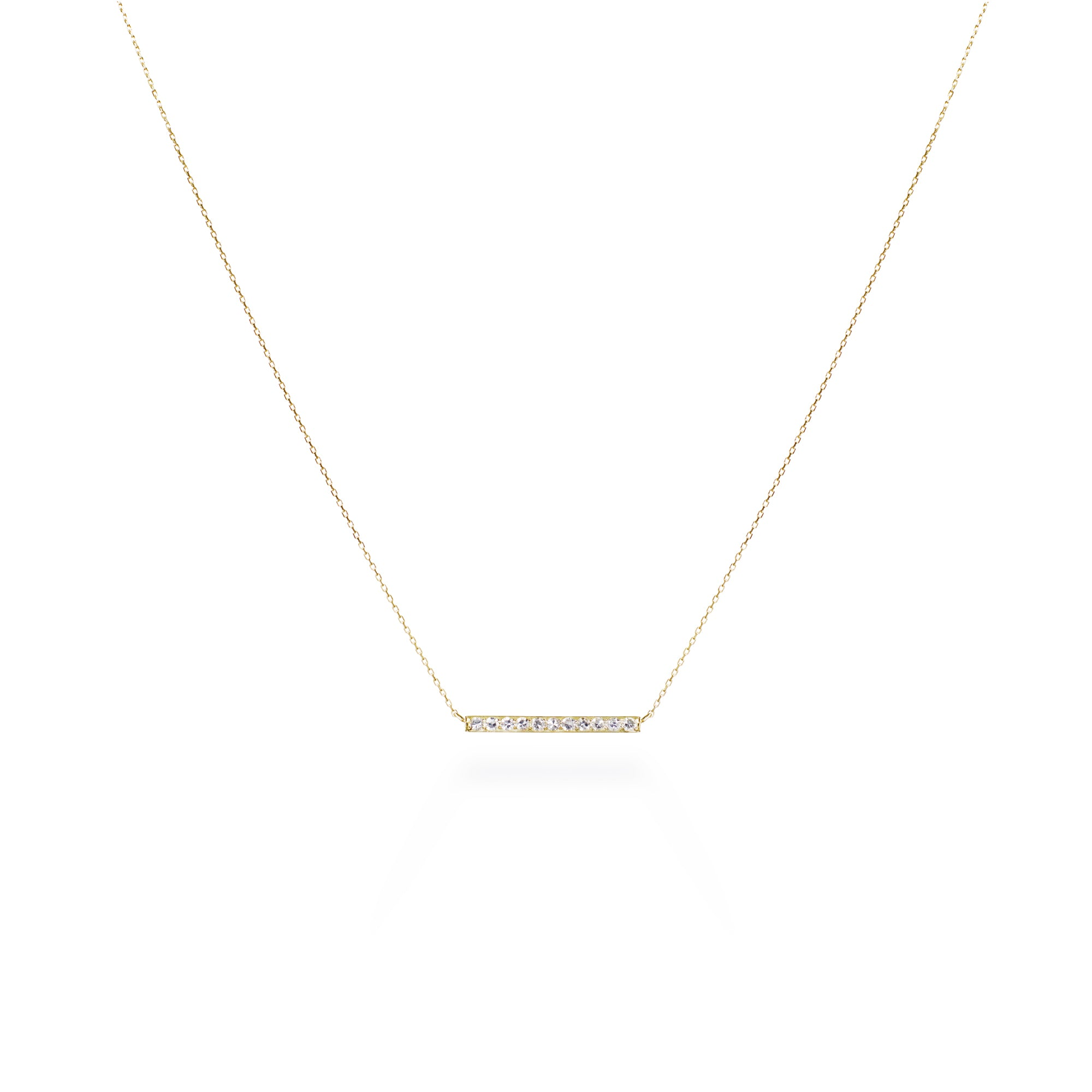 Single-cut Diamond Yellow Gold Pendant