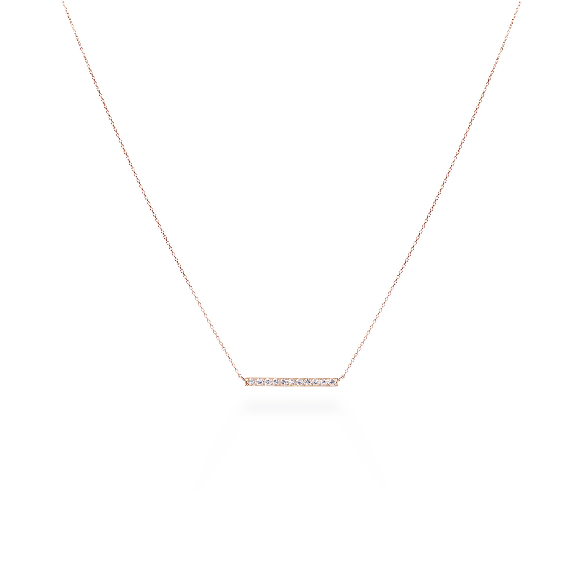 Single-cut Diamond Rose Gold Pendant