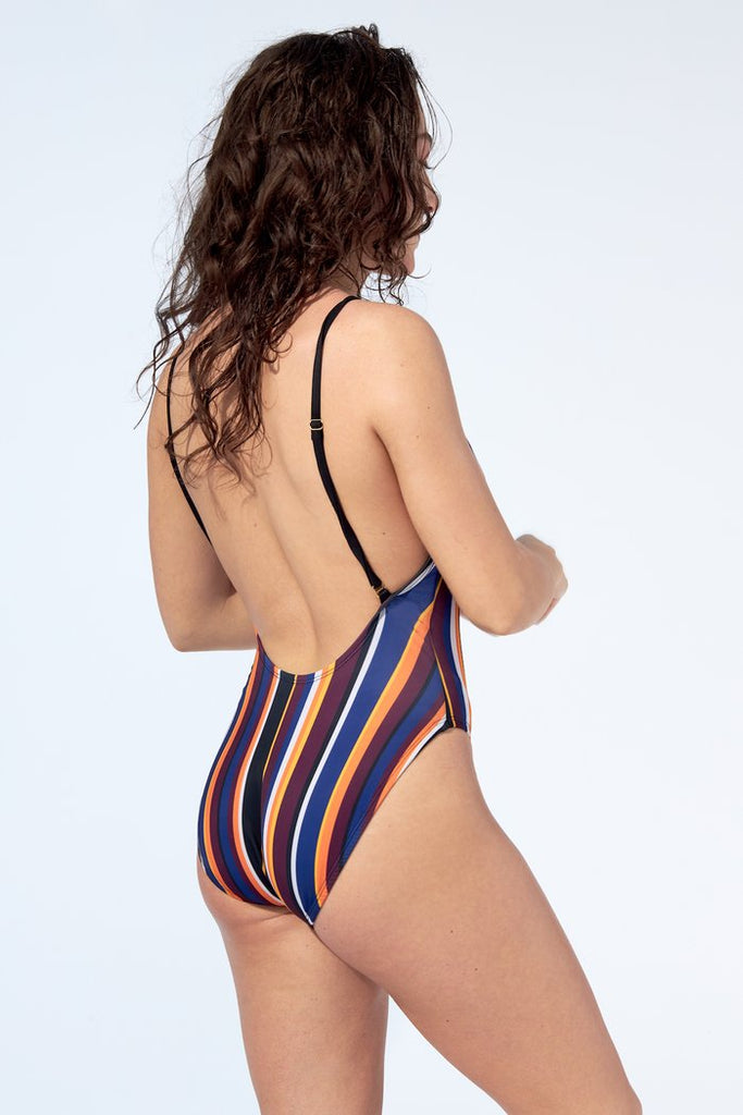 Selfish Swimwear - Sasha One Piece Striped Print