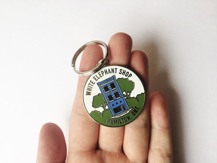 White Elephant - 10th Anniversary Keychain