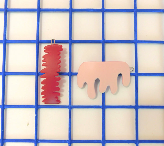 Chunks - Scratch Drip Barrette Set