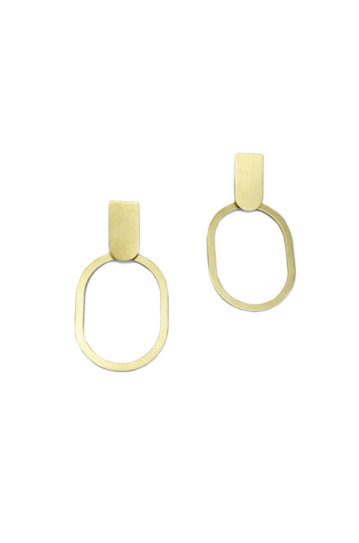 Natalie Joy - Solid Arc and Oval Earrings