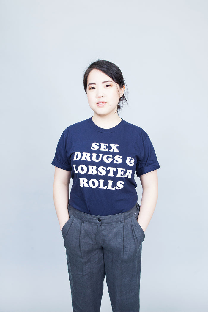 The Girl From Away - Sex, Drugs & Lobster Rolls T-shirt Navy