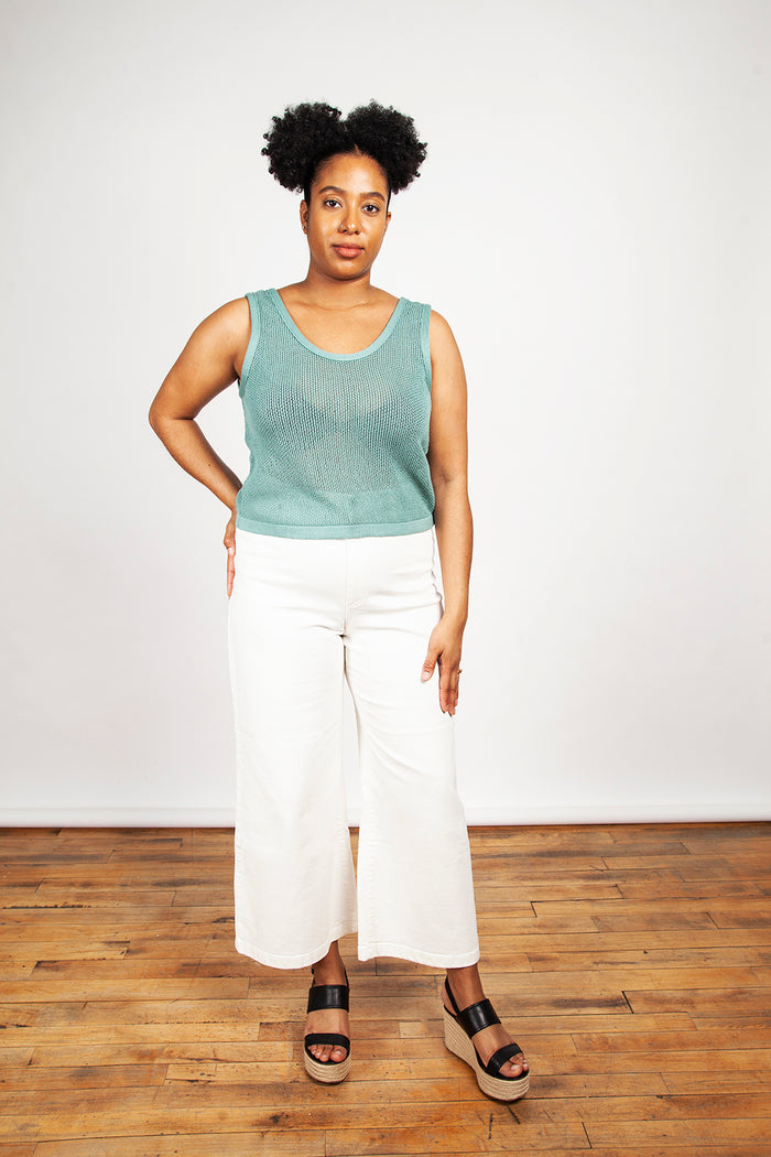Eve Gravel – Iris Top Aqua
