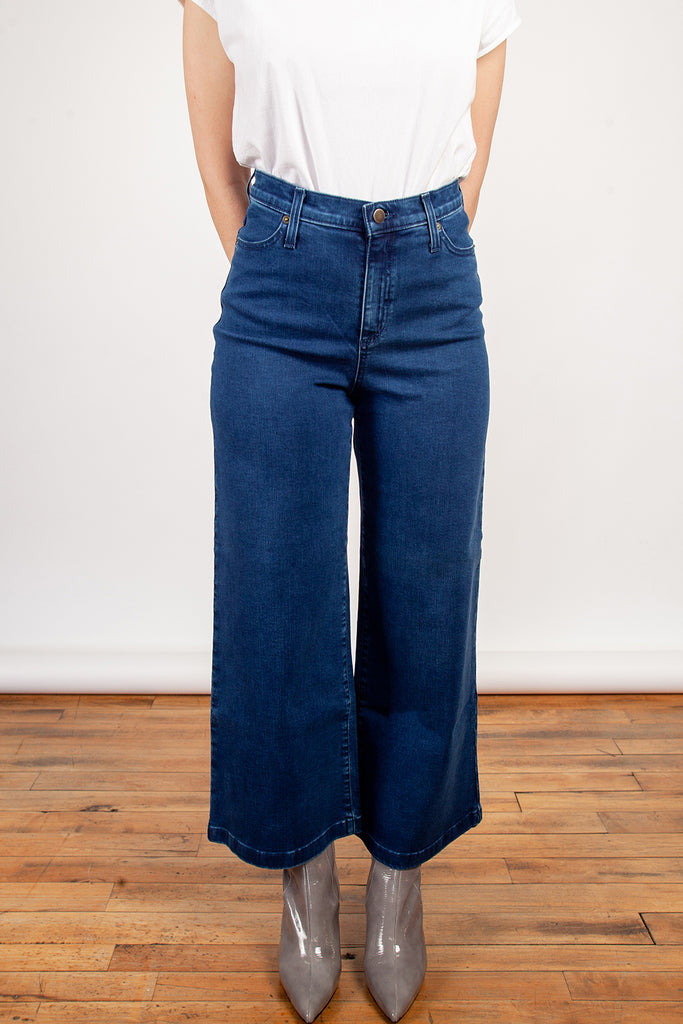 Iris Denim, Edge of Seventeen, Blue Wash, Clothing, Fall Winter 2018, Wide Leg Jeans, High Wasted Jeans, Made in Toronto, White Elephant Shop, Boutique, Canadian Fashion