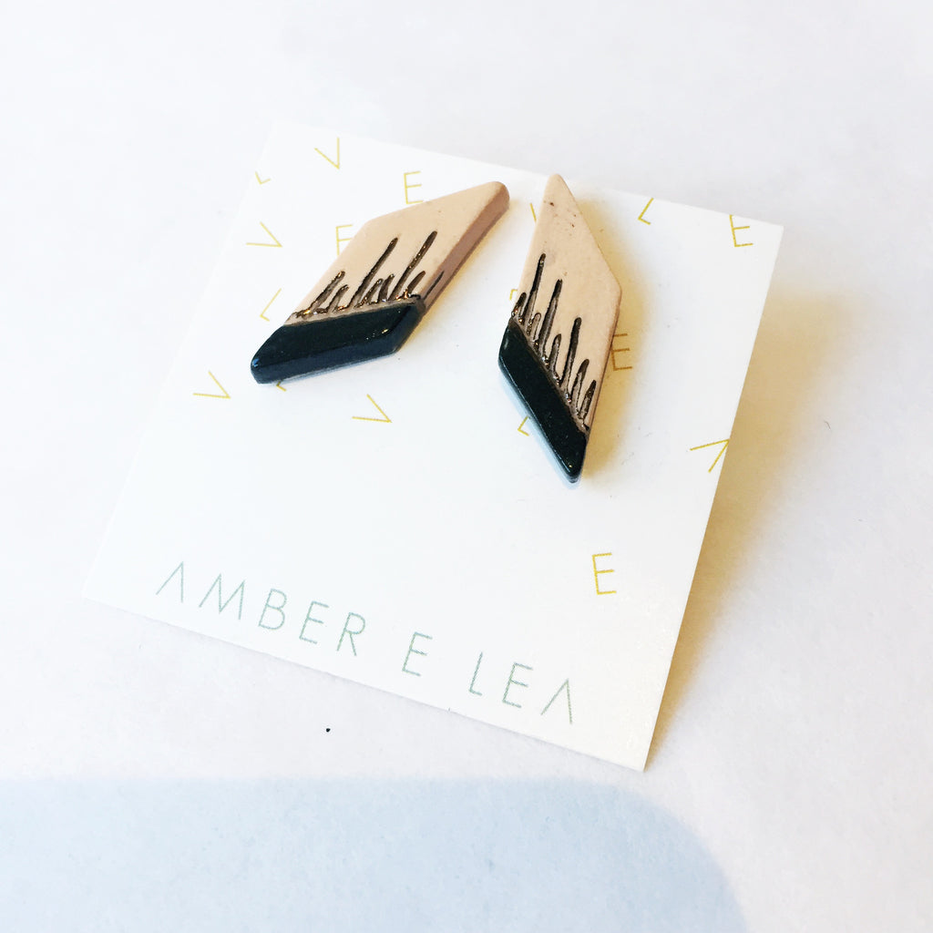 Amber E Lea - Lightening Strike Studs