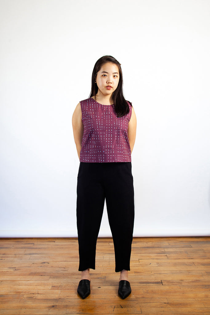 Jennifer Glasgow, Tenaya Top, Crop Top, Tank Top, Clothing, Spring Summer 2019, Made in Montreal, White Elephant Shop, Boutique, Canadian Fashion