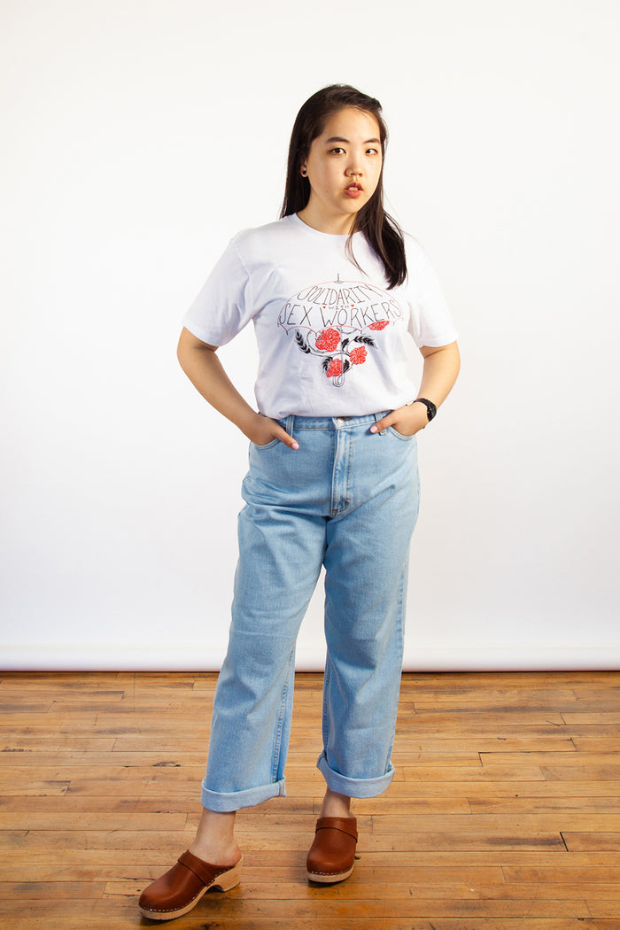 Anna Taylor, Solidarity with Sex Workers, Clothing, Spring Summer 2019, Cotton Tshirt, Made in Hamilton, White Elephant Shop, Boutique, Canadian Fashion