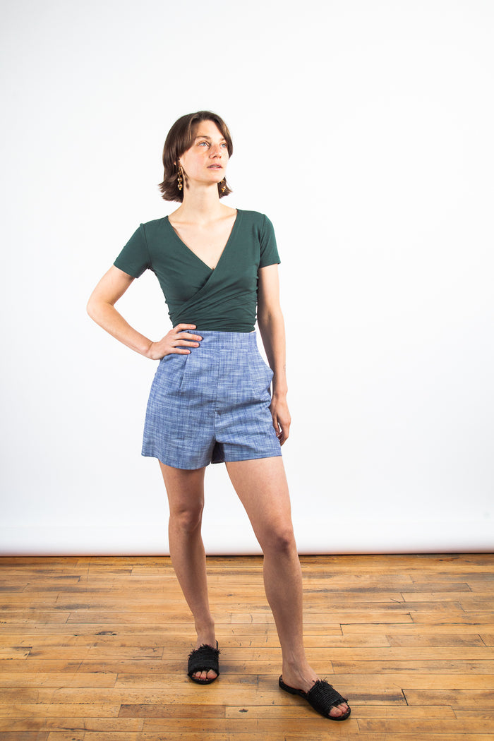 Birds of North America, BoNA, Umberellabird Shorts, High-Waisted Shorts, Cotton Shorts, Clothing, Spring Summer 2019, Made in Toronto, White Elephant Shop, Boutique, Canadian Fashion
