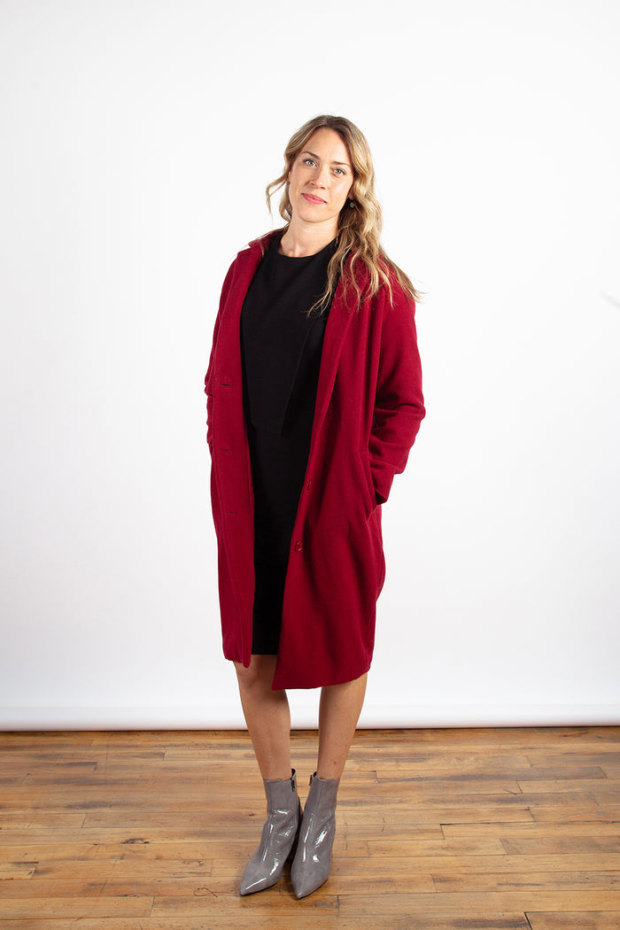 Valerie Dumaine - Kenneth Coat Cherry