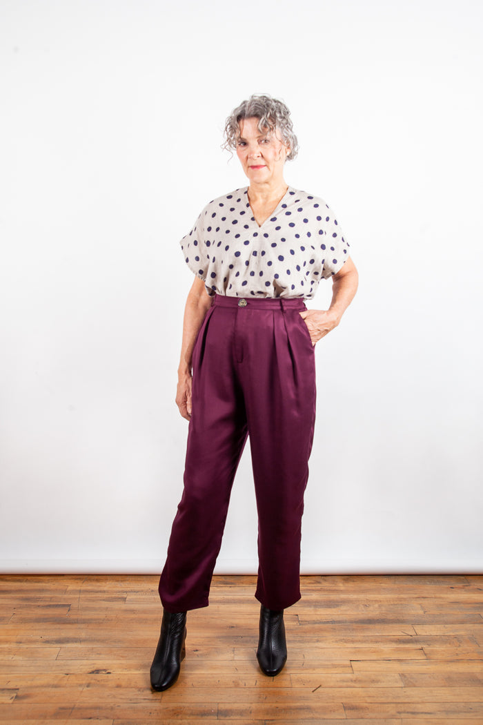 Jennifer Glasgow - Nakano Pants Burgundy