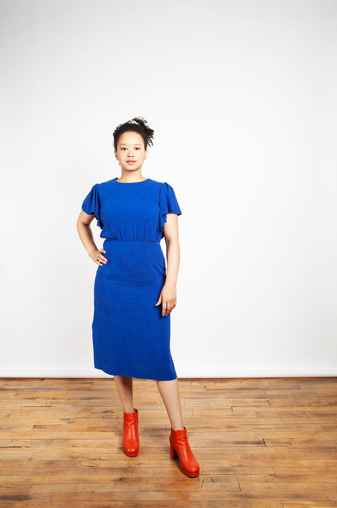 Jennifer Glasgow - Klee Dress Electric Blue