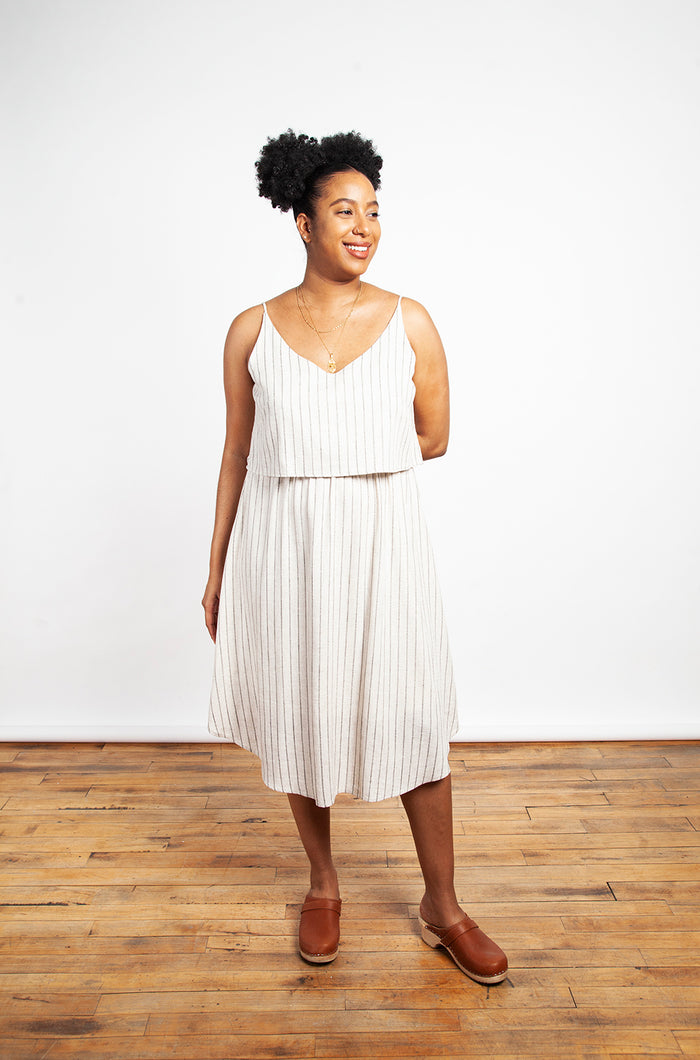 Cokluch - Savane Dress Rayé Lin Striped