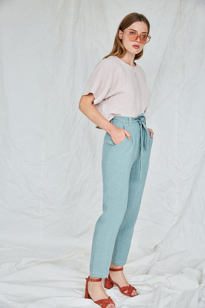 Eve Gravel - Oaks Pants Aqua