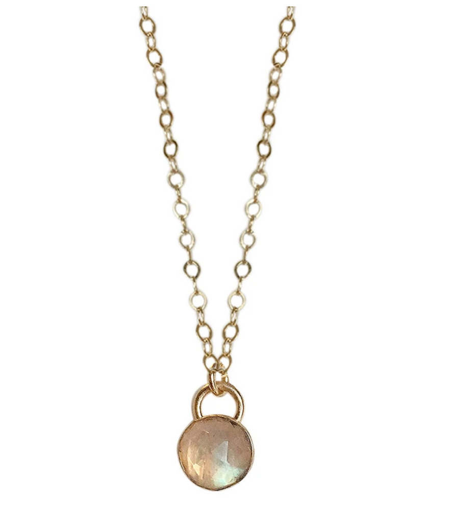 Strut Jewelry – Bezel Set Gemstone Necklace - Gold Fill