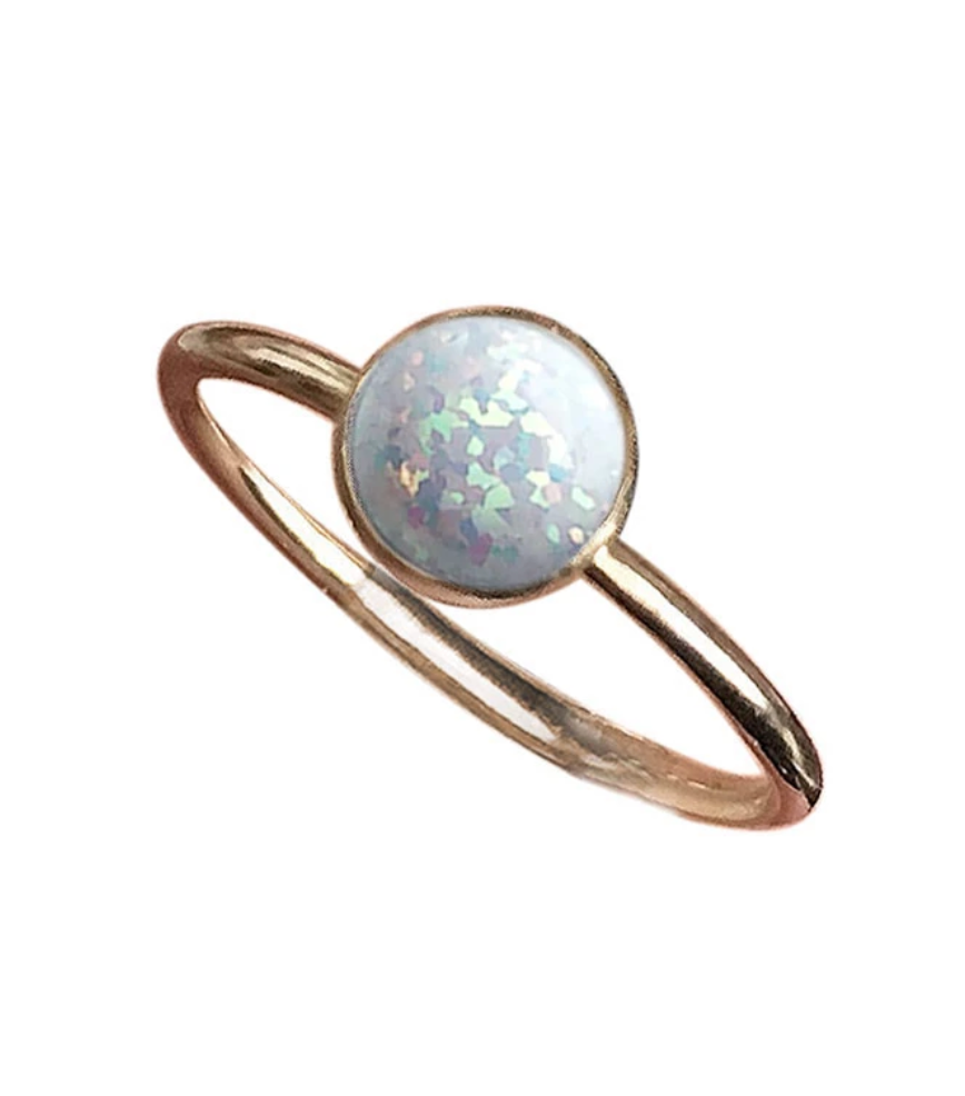 Strut Jewelry – Gemstone Stacking Ring Gold Fill