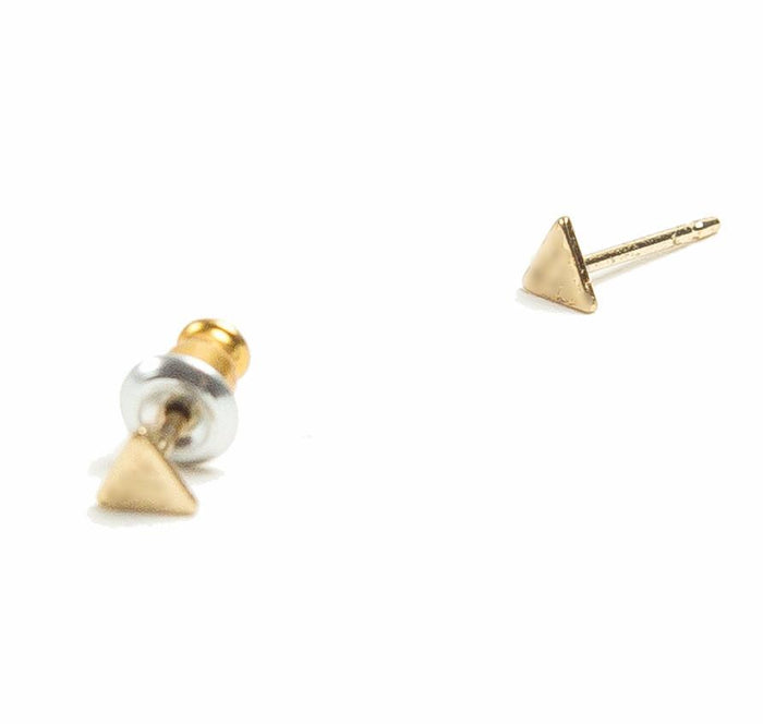 Tilly Doro - Tiny Triangle Stud Earrings